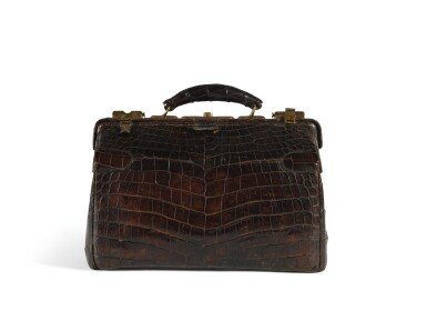 A Louis Vuitton Crocodile Travel Case Early 20th Century