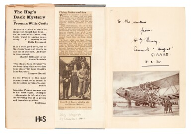 View 5. Thumbnail of Lot 80. Freeman Wills Crofts | The 12.30 from Croydon, 1934, inscribed to the author.