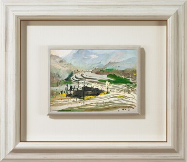 View 2. Thumbnail of Lot 1054. Wu Guanzhong 吳冠中 | Rice paddies of Central Sichuan 蜀中水田.