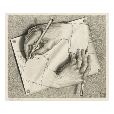 View 1. Thumbnail of Lot 88. M. C. ESCHER | DRAWING HANDS (B./K./L./W. 355).