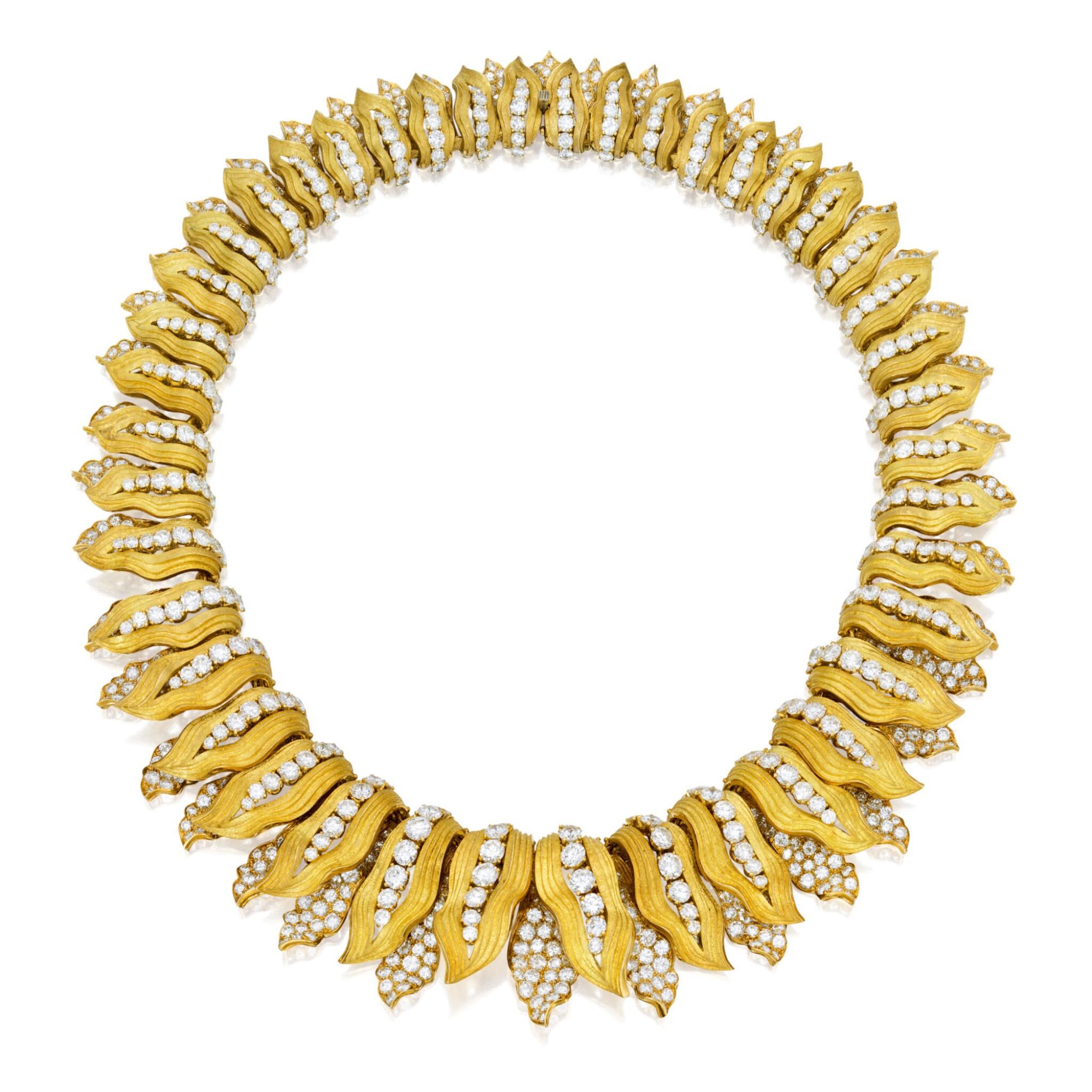View full screen - View 1 of Lot 414. GOLD AND DIAMOND NECKLACE, BULGARI | 黃金鑲鑽石項鏈,寶格麗.