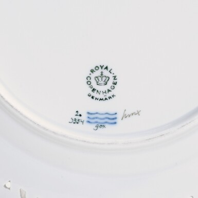 View 4. Thumbnail of Lot 46. A ROYAL COPENHAGEN 'FLORA DANICA' PART SERVICE AND A BING & GRONDHAL PART DINNER SERVICE, 20TH CENTURY.