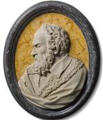 ATTRIBUTED TO GEROLAMO TICCIATI (1679-1745), ITALIAN, FLORENCE, FIRST HALF 18TH CENTURY | RELIEF WITH THE PROFILE OF A MAN, PROBABLY GALILEO GALILEI (1564-1642)