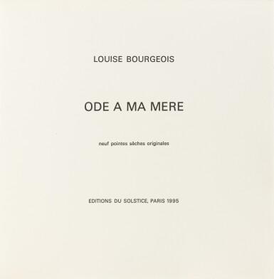 View 3. Thumbnail of Lot 139. Ode à ma mère. Éditions du Solstice, 1995. Ex. signé et numéroté, 9 pointes-sèches monogrammées.