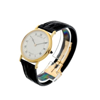 View 2. Thumbnail of Lot 204. RETAILED BY TIFFANY & CO.: A YELLOW GOLD WRISTWATCH, CIRCA 2000.