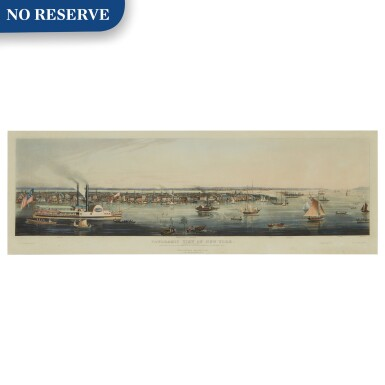 View 1. Thumbnail of Lot 498. Panoramic View of New York Taken from the North River.
