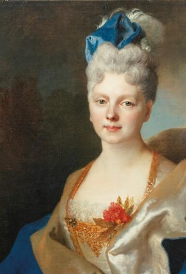 View 4. Thumbnail of Lot 45. Presumed portrait of the Countess Elisabeth de Saint-Périer (1701-1777).