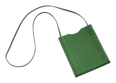 Green leather shoulder bag, Onimateau, Hermès, 2011