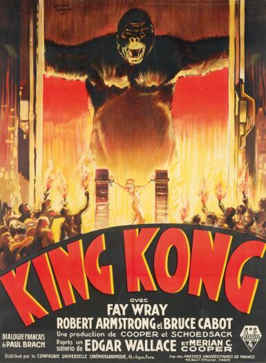 View 1. Thumbnail of Lot 105. KING KONG (1933) POSTER, FRENCH .