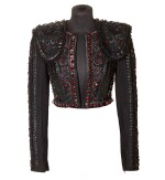 A Matador Inspired Handmade Short Jacket in Leather Details and Swarovski Crystals made for Madonna, circa 2015