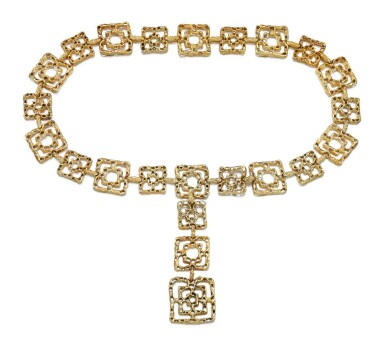 View 2. Thumbnail of Lot 31. LADY'S BELT, 'BYZANTINE', CARTIER, 1970S.