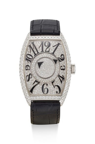 FRANCK MULLER | DOUBLE MYSTERY, REFERENCE 6850 DM D CD, A WHITE GOLD AND DIAMOND-SET WRISTWATCH, CIRCA 2005