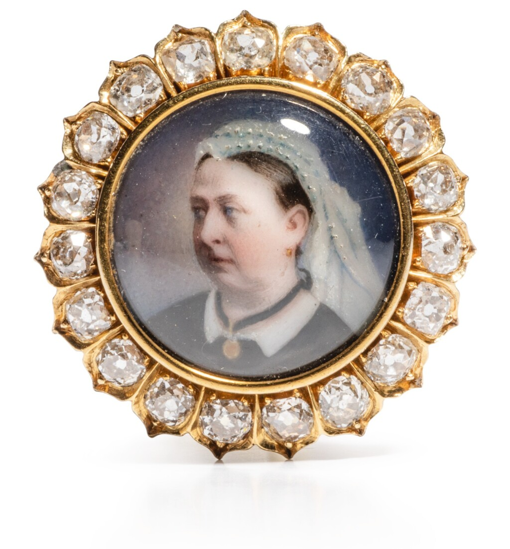QUEEN VICTORIA. A JEWELLED ROYAL PRESENTATION BROOCH, PROBABLY ENGLISH, 1869