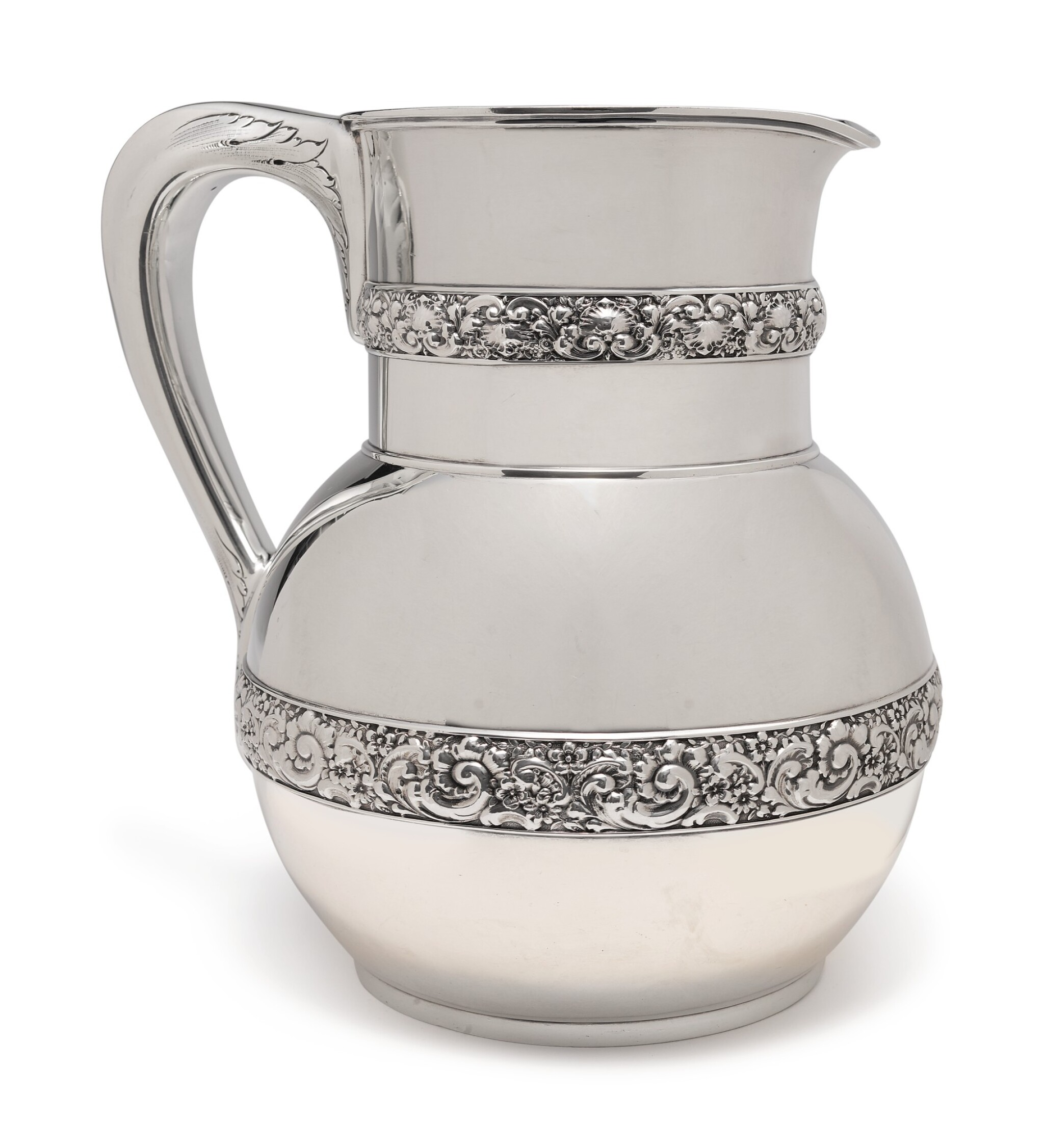 View full screen - View 1 of Lot 207.  AN AMERICAN SILVER PITCHER, TIFFANY & CO., NEW YORK, CIRCA 1878.