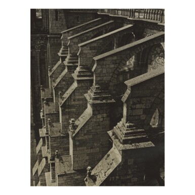 CHARLES SHEELER | CHARTRES CATHEDRAL, BUTTRESSES FROM SOUTH PORCH
