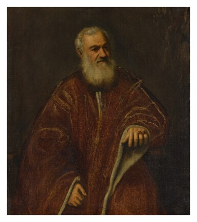 View 1. Thumbnail of Lot 1. ATTRIBUTED TO JACOPO ROBUSTI, CALLED JACOPO TINTORETTO AND WORKSHOP   PORTRAIT OF A VENETIAN SENATOR.