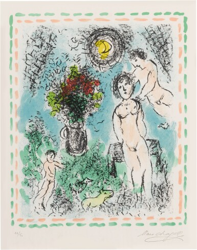 View 6. Thumbnail of Lot 32. Quinze Dernières Lithographies de Marc Chagall: 5 prints (M. 1035, 1036, 1038, 1042 and 1047).