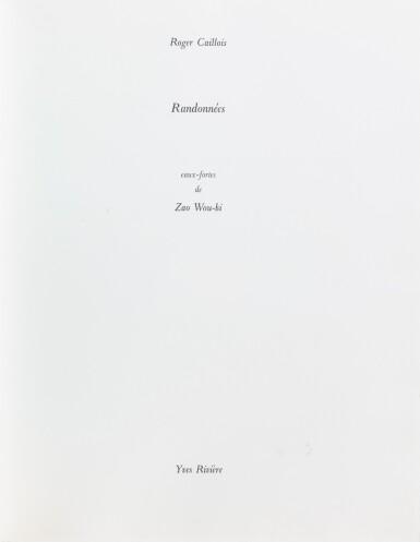 View 3. Thumbnail of Lot 180.  Randonnées. Paris, Yves Rivière, 1974. In-4. En feuilles. Un des 24 exemplaires d'artiste..