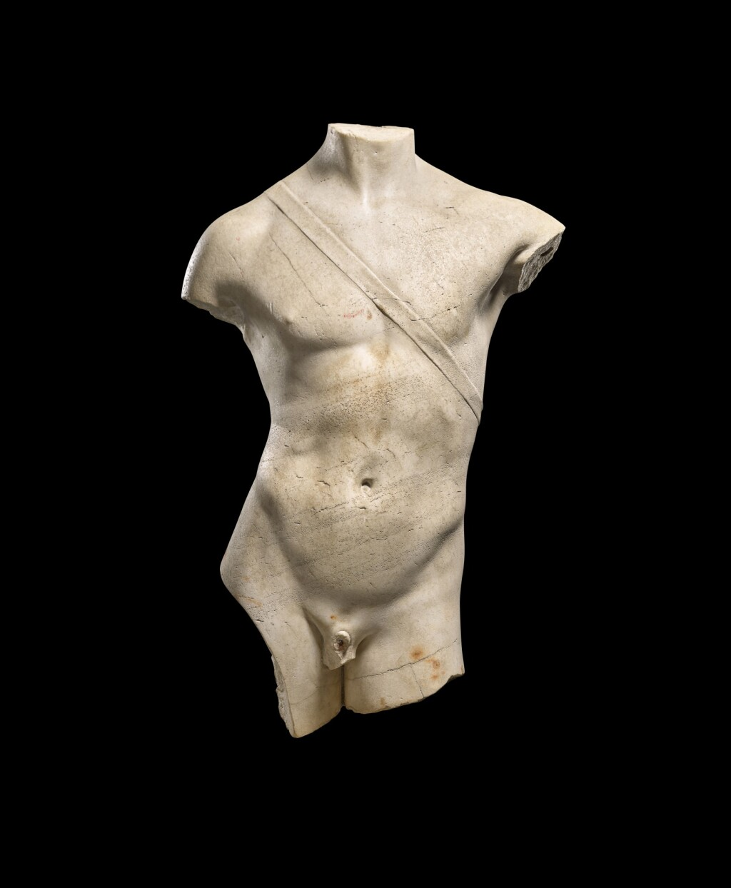 A ROMAN MARBLE TORSO OF APOLLO, CIRCA 2ND CENTURY A.D., REWORKED AND RESTORED IN THE LATE 16TH/17TH CENTURY A.D.