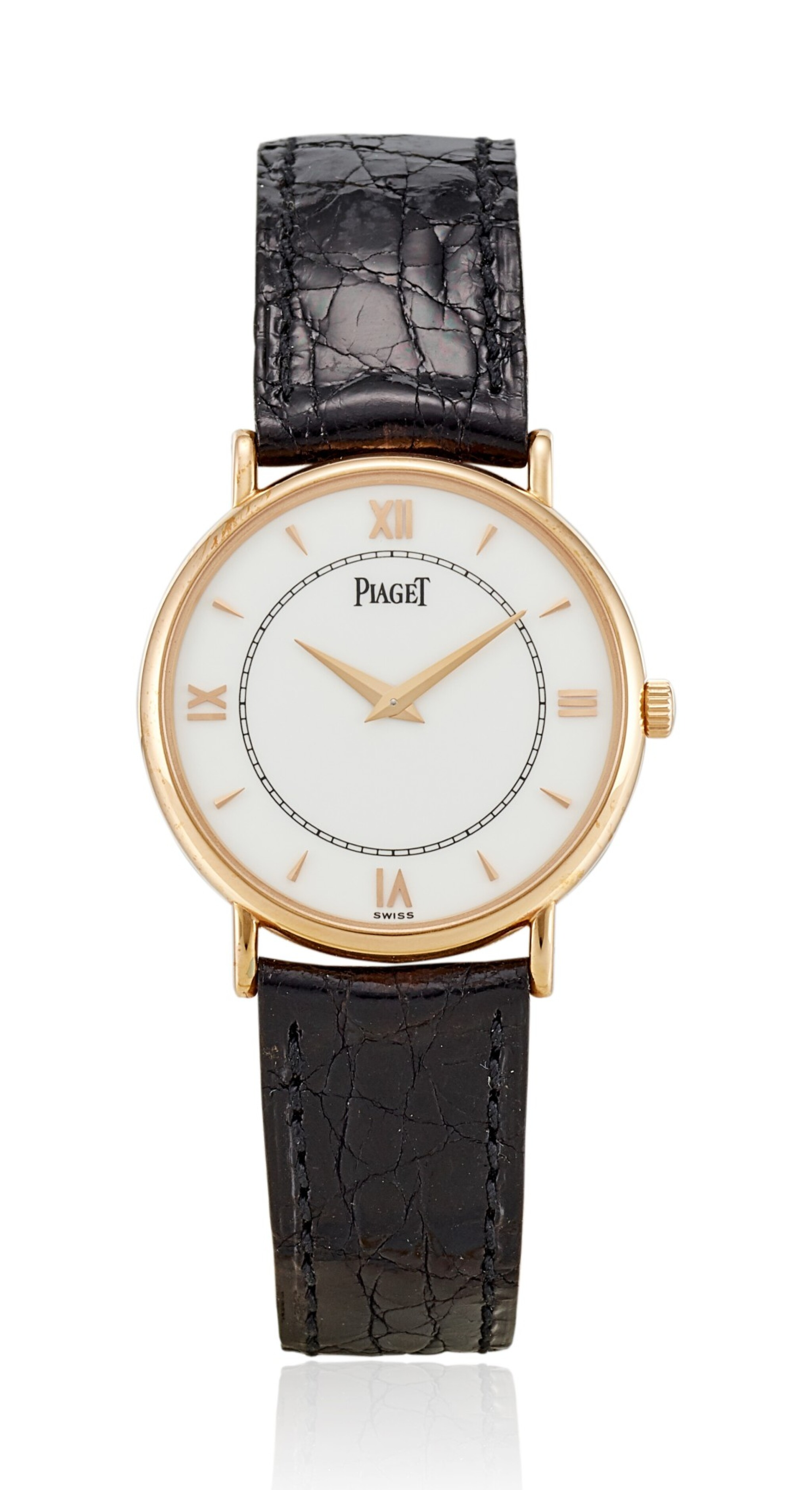 View full screen - View 1 of Lot 8269. PIAGET | REFERENCE 8025N, A LIMITED EDITION PINK GOLD WRISTWATCH, MADE TO COMMEMORATE THE 120TH ANNIVERSARY OF PIAGET, CIRCA 1997.