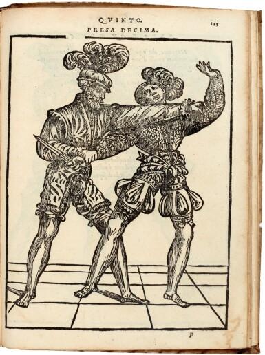 View 2. Thumbnail of Lot 219. Marozzo, Opera nova de l'arte de l'armi, [Modena, c. 1540], contemporary limp vellum.
