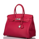 Hermès Horseshoe Stamp (HSS) Rubis Verso Birkin 35cm of Togo Leather with Palladium Hardware