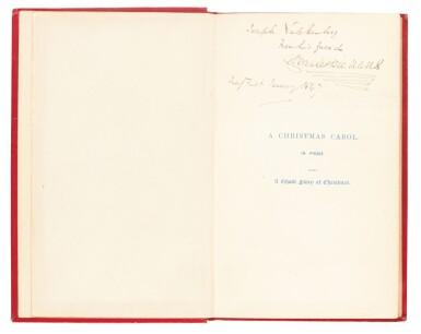 Dickens, A Christmas Carol, 1846, eleventh edition, inscribed to his wine merchant Joseph Valckenberg