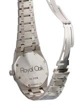 "AUDEMARS PIGUET  |  ROYAL OAK, REFERENCE 15000ST.OO.0789ST.06  A STAINLESS STEEL BRACELET WATCH WITH DATE, CIRCA 2000 | 愛彼 | ""Royal Oak 型號15000ST.OO.0789ST.06  精鋼鏈帶腕錶,備日期顯示,機芯編號565107,錶殼編號E99685-2206,約2000年製"""