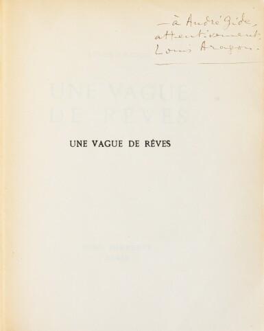 View 3. Thumbnail of Lot 206. Une vague de rêves. Paris, 1924. Reliure en bois de Taral. Exemplaire d'André Gide.