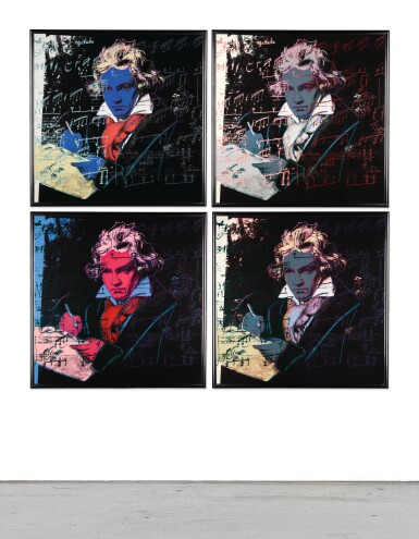 View 1. Thumbnail of Lot 188. ANDY WARHOL | BEETHOVEN (F. & S. II.390-393).