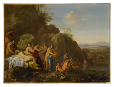 Diana and her attendants in a landscape with the spoils of the hunt