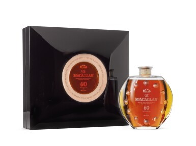 View 2. Thumbnail of Lot 2004. The Macallan In Lalique - Curiously Small Stills Decanter, 60 Years Old.