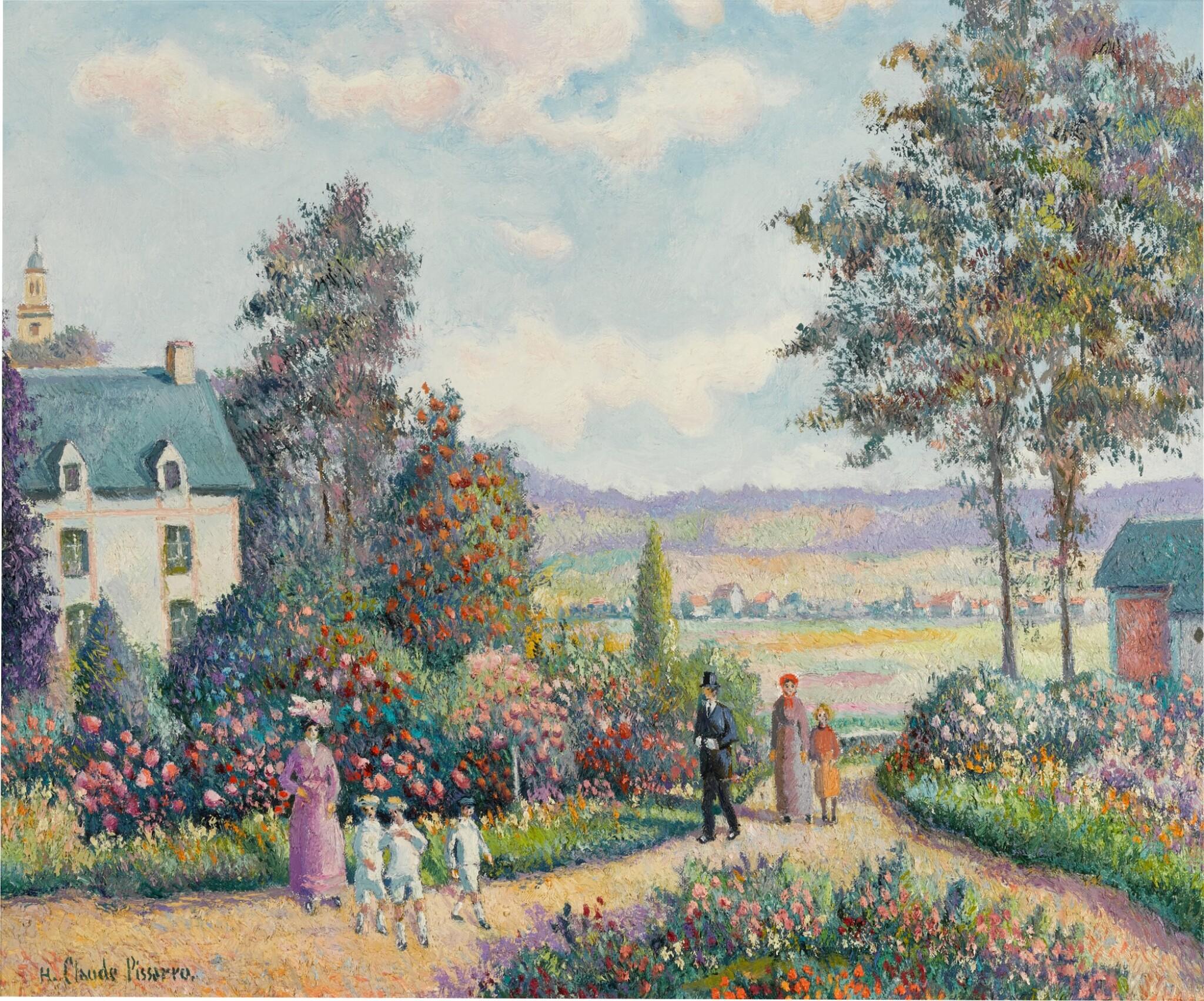 View full screen - View 1 of Lot 90. Un Dimanche à la Roseraie 'Jean Grave' (Pont de l'Arche Alizay).