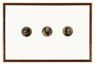 View 2. Thumbnail of Lot 282. Three Round Heads (Triptych).