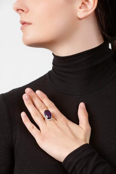 AMETHYST AND DIAMOND RING | BULGARI