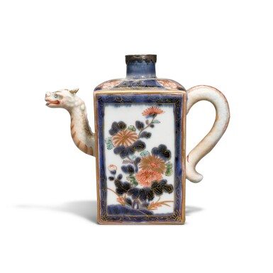 View 1. Thumbnail of Lot 57. An Imari ewer with silver mount Edo period, late 17th - early 18th century.