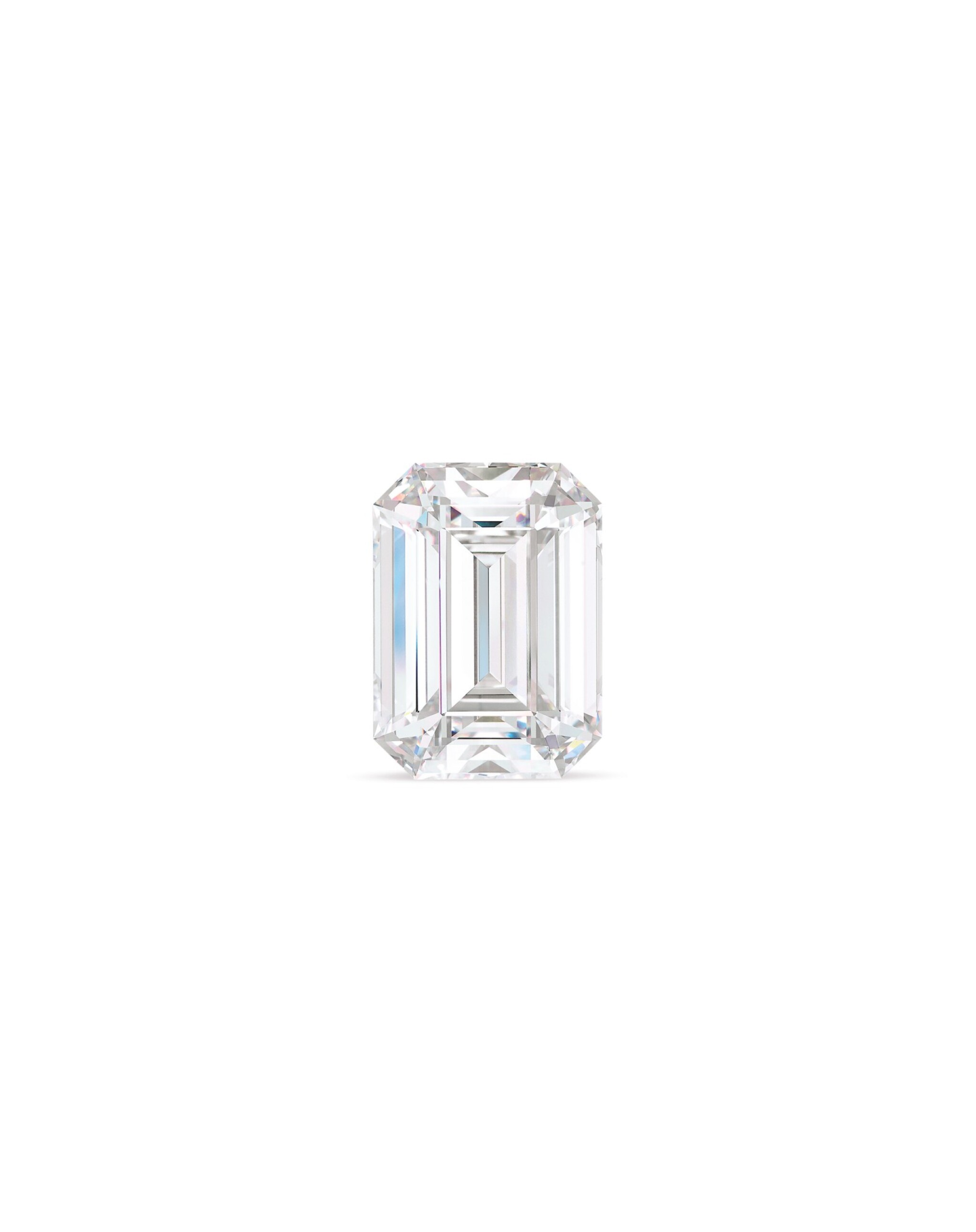 View full screen - View 1 of Lot 1764. An Exceptional Unmounted Diamond   39.88克拉 方形 D色 完美無瑕 鑽石.