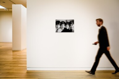 View 4. Thumbnail of Lot 16. NORMAN PARKINSON | The Beatles, Russell Square, 1963, silver print, signed, titled, dated, numbered 8/21.