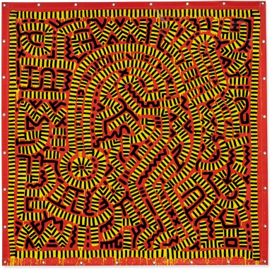 View 1. Thumbnail of Lot 422. KEITH HARING   UNTITLED.