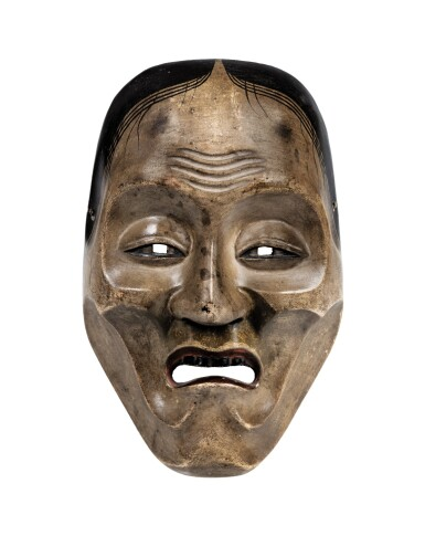 View 1. Thumbnail of Lot 78. A wood lacquered Noh mask, Japan, Meiji period.