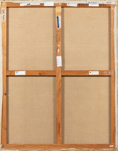 """View 3. Thumbnail of Lot 30. JEAN COCTEAU. Ulysse et les Sirènes. 1951. Huile sur toile, signée """"Jean"""", datée 1951 en bas à gauche. 146 x 114 cm."""