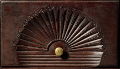 EXCEPTIONAL CHIPPENDALE CARVED CHERRYWOOD BONNET-TOP HIGH CHEST OF DRAWERS, COLCHESTER, CONNECTICUT, CIRCA 1775