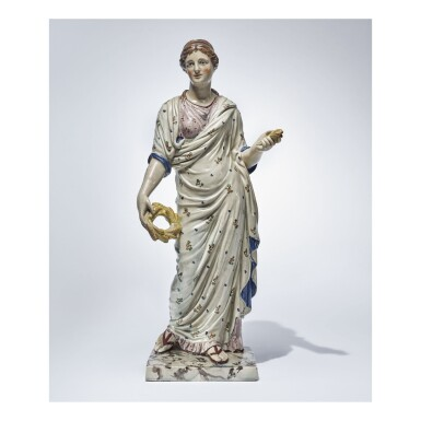 A WEDGWOOD PEARLWARE LARGE FIGURE OF CERES EARLY 19TH CENTURY