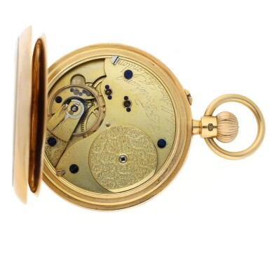 View 4. Thumbnail of Lot 44. CHARLES FRODSHAM | A PINK GOLD HUNTING CASED WATCH CIRCA 1916.