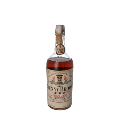 View 1. Thumbnail of Lot 217. Old Sunny Brook 7 Year Old 100 proof 1912 (1 QUART).