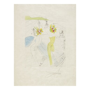 View 3. Thumbnail of Lot 93. SALVADOR DALÍ   THE HIPPIES (MICHLER & LÖPSINGER 377-387; FIELD 69-13).