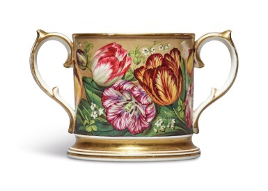 View 2. Thumbnail of Lot 145. AN ENGLISH PORCELAIN LOVING CUP, CIRCA 1820.