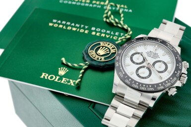 View 8. Thumbnail of Lot 16.  ROLEX | REFERENCE 116500 DAYTONA   A STAINLESS STEEL AUTOMATIC CHRONOGRAPH WRISTWATCH WITH BRACELET, CIRCA 2017 .