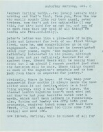 Sylvia Plath   Typed letter signed, to Ted Hughes, discussing their poetry, 6 October 1956