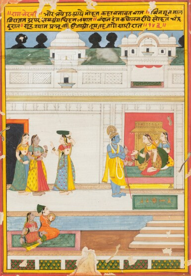 View 11. Thumbnail of Lot 69. RAJASTHAN, LATE 18TH CENTURY AND 19TH CENTURY | SEVEN INDIAN MINIATURES.